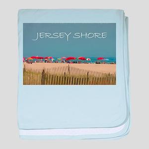 Jersey Shore Beach Umbrellas baby blanket