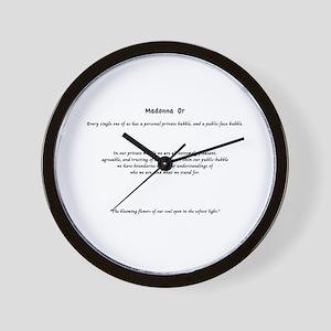 Madonna Or Wall Clock