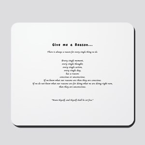 Give me a Reason... Mousepad