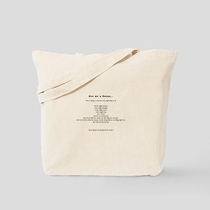 Give me a Reason... Tote Bag