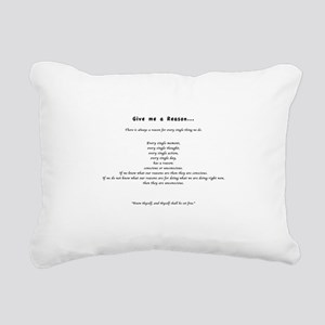 Give me a Reason... Rectangular Canvas Pillow