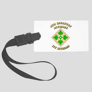 Army - Division - 4th Infantry Large Luggage Tag