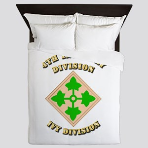Army - Division - 4th Infantry Queen Duvet