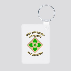 Army - Division - 4th Infantry Aluminum Photo Keyc