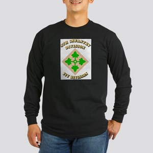Army - Division - 4th Infantry Long Sleeve Dark T-