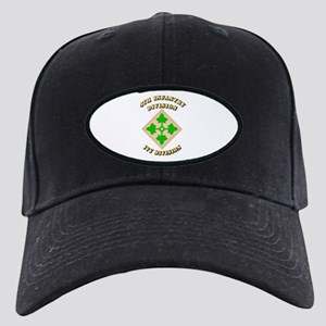 Army - Division - 4th Infantry Black Cap