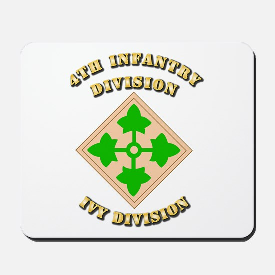 Army - Division - 4th Infantry Mousepad
