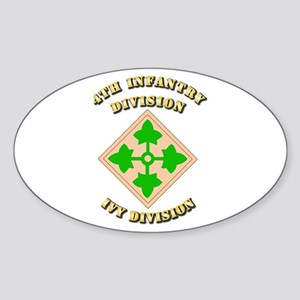Army - Division - 4th Infantry Sticker (Oval)
