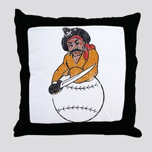 Throwback Pirates Throw Pillow
