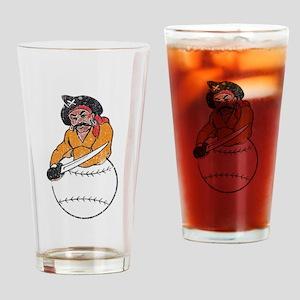 Throwback Pirates Drinking Glass