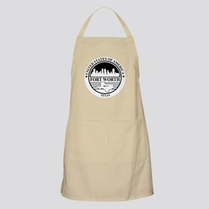 Fort worth logo white and black Apron