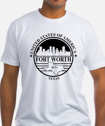 Fort worth logo white and black T-Shirt