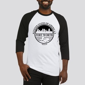 Fort worth logo white and black Baseball Jersey