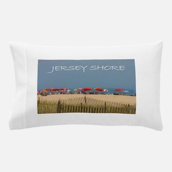 Jersey Shore Beach Umbrellas Pillow Case