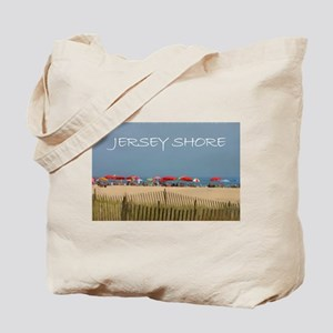 Jersey Shore Beach Umbrellas Tote Bag
