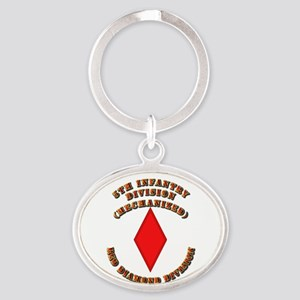 Army - Division - 5th Infantry Oval Keychain