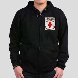 Army - Division - 5th Infantry Zip Hoodie (dark)