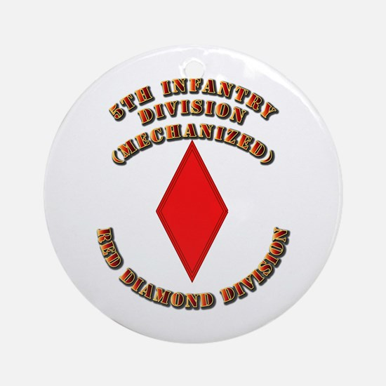 Army - Division - 5th Infantry Ornament (Round)
