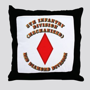 Army - Division - 5th Infantry Throw Pillow