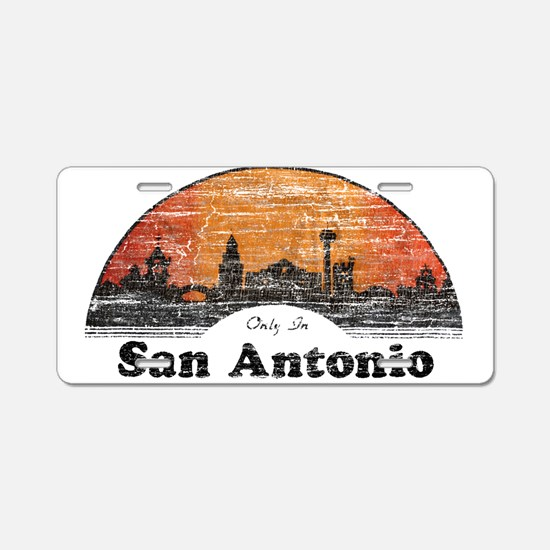 Vintage San Antonio Aluminum License Plate