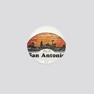 Vintage San Antonio Mini Button