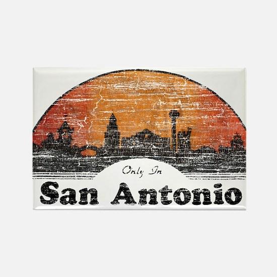 Vintage San Antonio Rectangle Magnet