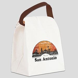 Vintage San Antonio Canvas Lunch Bag
