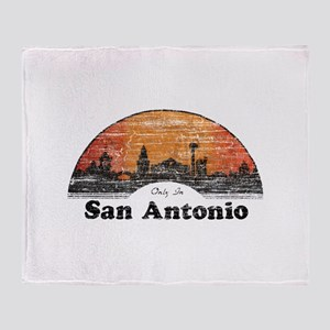 Vintage San Antonio Throw Blanket