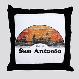 Vintage San Antonio Throw Pillow