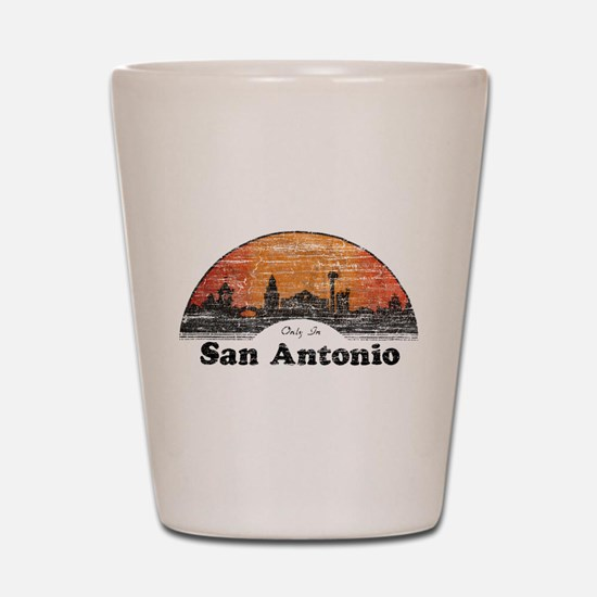Vintage San Antonio Shot Glass
