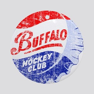 Vintage Buffalo Hockey Ornament (Round)