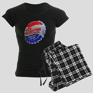 Vintage Buffalo Hockey Women's Dark Pajamas