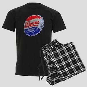 Vintage Buffalo Hockey Men's Dark Pajamas
