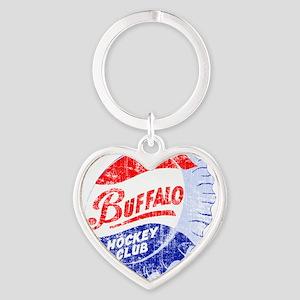 Vintage Buffalo Hockey Heart Keychain