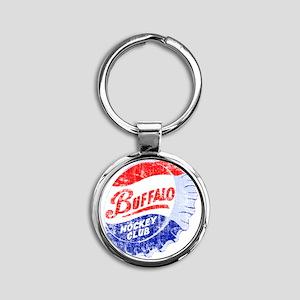 Vintage Buffalo Hockey Round Keychain