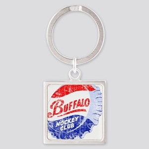 Vintage Buffalo Hockey Square Keychain