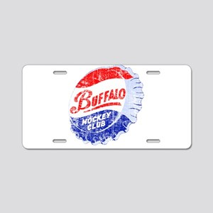Vintage Buffalo Hockey Aluminum License Plate