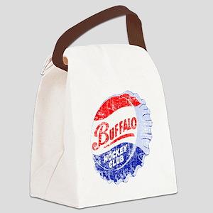 Vintage Buffalo Hockey Canvas Lunch Bag