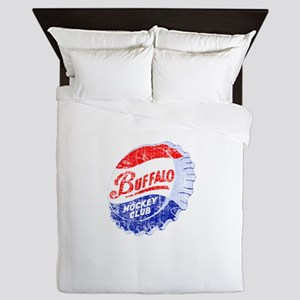 Vintage Buffalo Hockey Queen Duvet