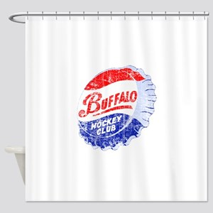 Vintage Buffalo Hockey Shower Curtain
