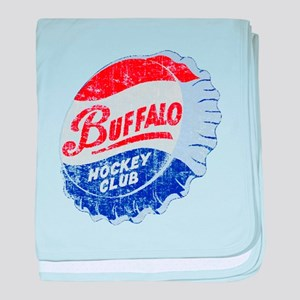 Vintage Buffalo Hockey baby blanket