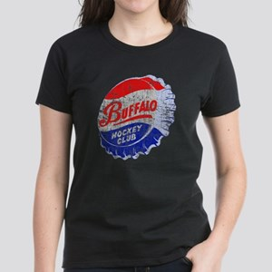Vintage Buffalo Hockey Women's Dark T-Shirt