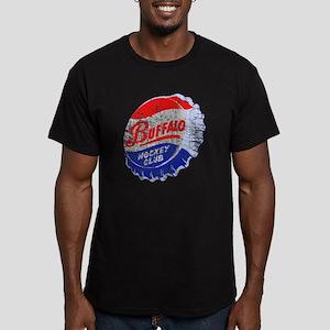 Vintage Buffalo Hockey Men's Fitted T-Shirt (dark)