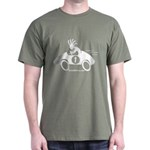 Kokopelli Race Car Driver Dark T-Shirt