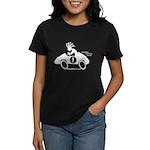Kokopelli Race Car Driver Women's Dark T-Shirt
