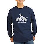 Kokopelli Race Car Driver Long Sleeve Dark T-Shirt