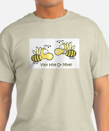 Your Hive Or Mine Ash Grey T-Shirt
