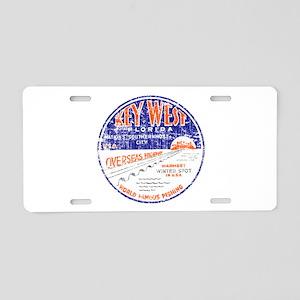 Vintage Key West Aluminum License Plate