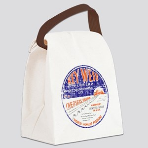 Vintage Key West Canvas Lunch Bag