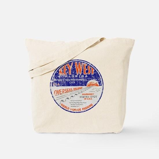 Vintage Key West Tote Bag